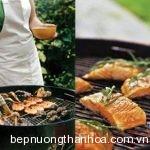 Bếp nướng than hoa giữ được vị ngọt, mùi thơm đặc trưng của thực phẩm khi nướng